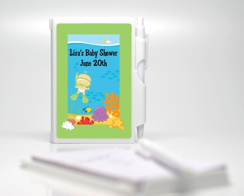 under the sea baby snorkeling notebook favor baby shower notebook