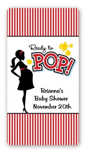 Ready To Pop Baby Shower Rectangular Sticker Labels