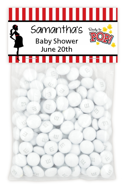 Ready To Pop - Custom Baby Shower Treat Bag Topper