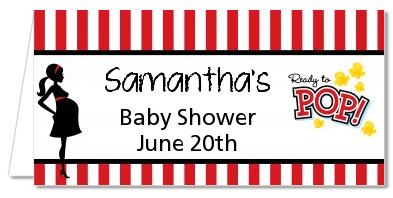 Ready To Pop - Personalized Baby Shower Place Cards