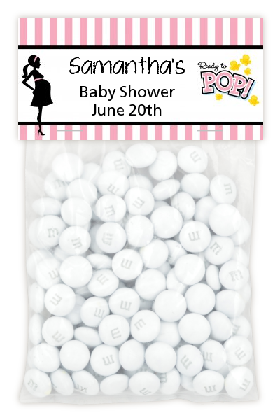 Ready To Pop Pink - Custom Baby Shower Treat Bag Topper