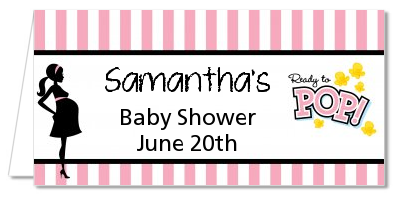 Ready To Pop Pink - Personalized Baby Shower Place Cards