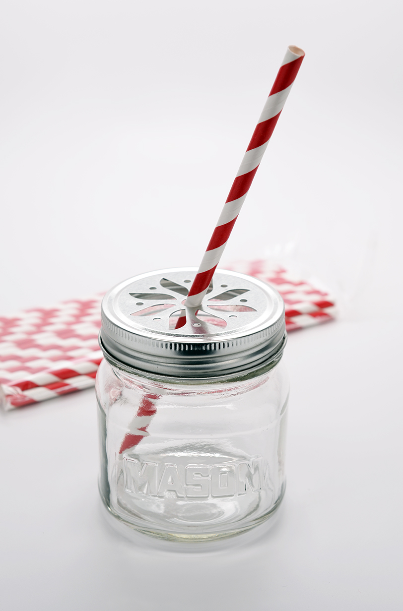 Red Stripe - Baby Shower Decorative Paper Straws