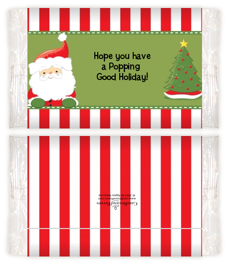 Santa claus christmas popcorn wrappers