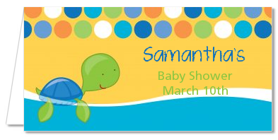 Sea Turtle Boy - Personalized Baby Shower Place Cards