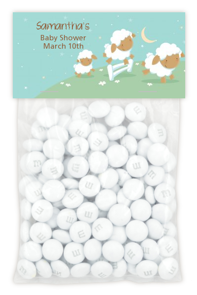 Sheep - Custom Baby Shower Treat Bag Topper