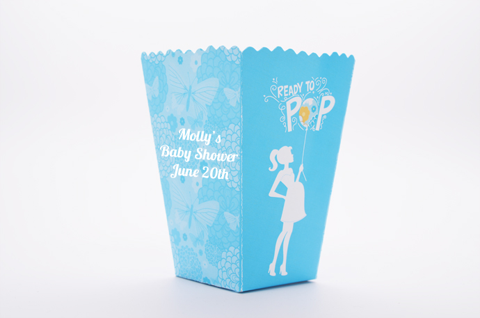 sheu0027s ready to pop blue baby shower popcorn boxes