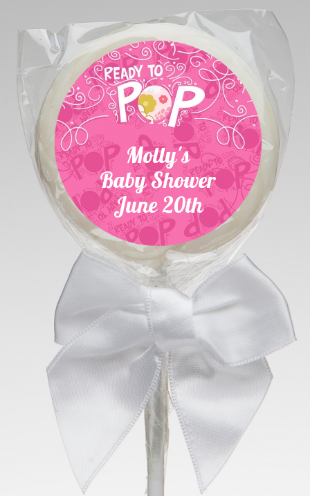 ready to pop pink baby shower lollipop favors she 39 s ready to pop