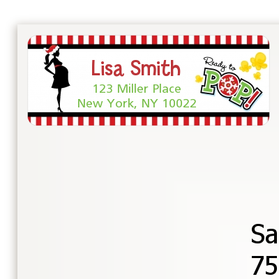She's Ready To Pop Christmas Edition - Baby Shower Return Address Labels