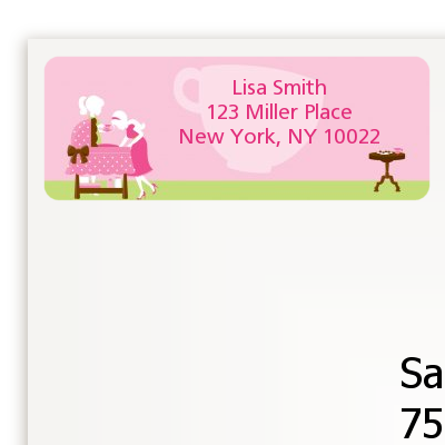 Sip and See It's a Girl - Baby Shower Return Address Labels