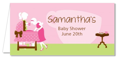 Sip and See It's a Girl - Personalized Baby Shower Place Cards