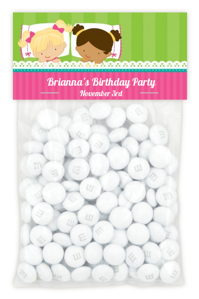 Slumber Party with Friends - Custom Birthday Party Treat Bag Topper