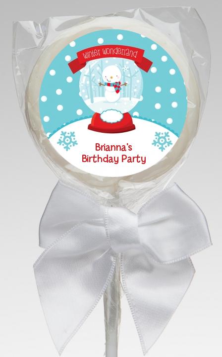 Snow Globe Winter Wonderland Birthday Party Lollipop