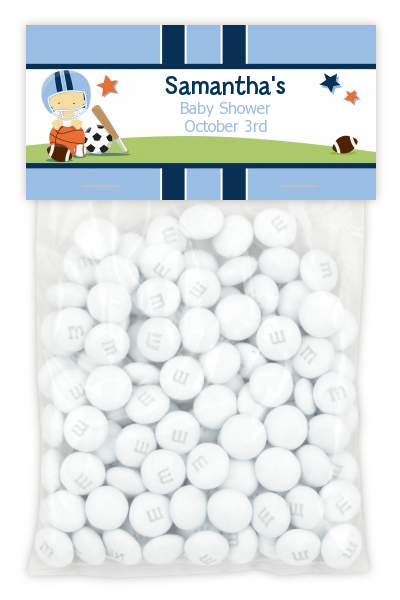 Sports Baby Asian - Custom Baby Shower Treat Bag Topper