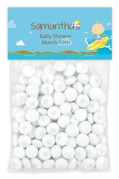 Surf Boy - Custom Baby Shower Treat Bag Topper