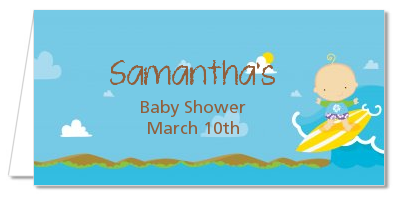Surf Boy - Personalized Baby Shower Place Cards