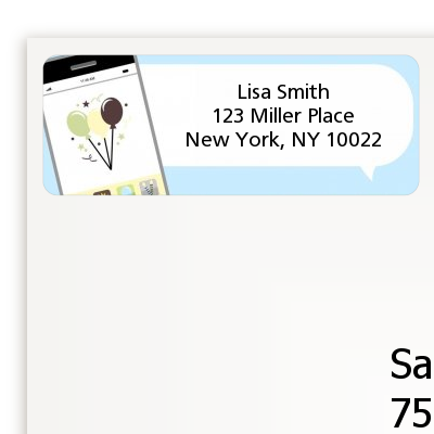 Social Media Texting - Birthday Party Return Address Labels