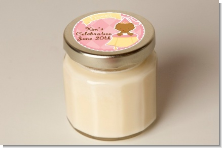 Little Princess African American - Baby Shower Personalized Candle Jar