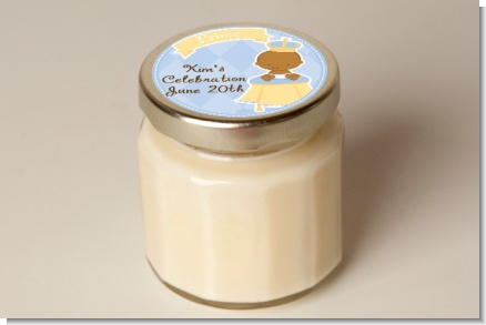 Little Prince African American - Baby Shower Personalized Candle Jar