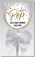 About To Pop Glitter - Personalized Baby Shower Lollipop Favors