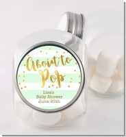 About To Pop Gold - Personalized Baby Shower Candy Jar
