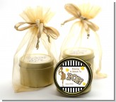 About To Pop Gold Glitter - Baby Shower Gold Tin Candle Favors
