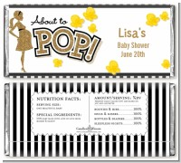 About To Pop Gold Glitter - Personalized Baby Shower Candy Bar Wrappers