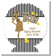 About To Pop Gold Glitter - Personalized Baby Shower Centerpiece Stand thumbnail