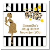 About To Pop Gold Glitter - Personalized Baby Shower Card Stock Favor Tags