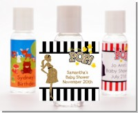 About To Pop Gold Glitter - Personalized Baby Shower Hand Sanitizers Favors