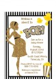About To Pop Gold Glitter - Baby Shower Petite Invitations thumbnail