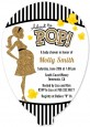 About To Pop Gold Glitter - Baby Shower Shaped Invitations thumbnail