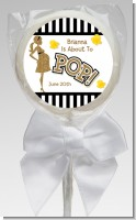 About To Pop Gold Glitter - Personalized Baby Shower Lollipop Favors