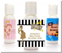About To Pop Gold Glitter - Personalized Baby Shower Lotion Favors
