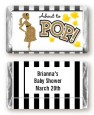 About To Pop Gold Glitter - Personalized Baby Shower Mini Candy Bar Wrappers thumbnail