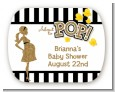 About To Pop Gold Glitter - Personalized Baby Shower Rounded Corner Stickers thumbnail