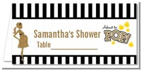 About To Pop Gold Glitter - Personalized Baby Shower Place Cards