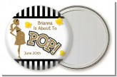 About To Pop Gold Glitter - Personalized Baby Shower Pocket Mirror Favors