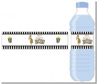 About To Pop Gold Glitter - Personalized Baby Shower Water Bottle Labels