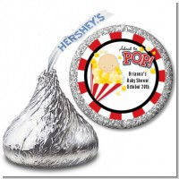 About To Pop - Hershey Kiss Baby Shower Sticker Labels