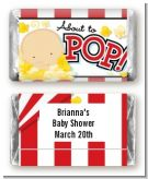 About To Pop - Personalized Baby Shower Mini Candy Bar Wrappers