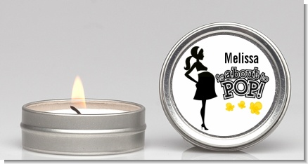 About to Pop Mommy Black - Baby Shower Candle Favors