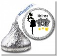 About to Pop Mommy Black - Hershey Kiss Baby Shower Sticker Labels thumbnail