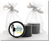 About To Pop Mommy - Baby Shower Black Candle Tin Favors