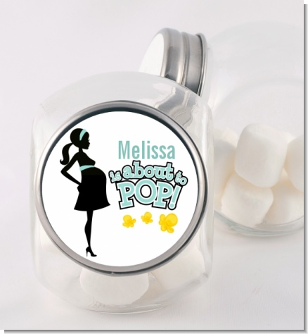 About To Pop Mommy - Personalized Baby Shower Candy Jar