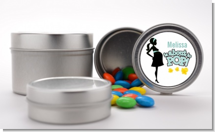 About To Pop Mommy - Custom Baby Shower Favor Tins
