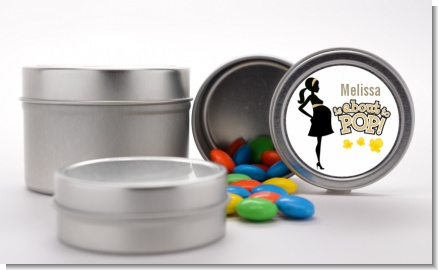 About To Pop Mommy Gold - Custom Baby Shower Favor Tins