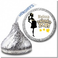 About To Pop Mommy Gold - Hershey Kiss Baby Shower Sticker Labels