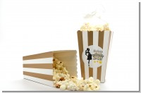 About To Pop Mommy Gold - Personalized Baby Shower Popcorn Boxes - Set of 12