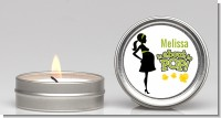 About To Pop Mommy Green - Baby Shower Candle Favors